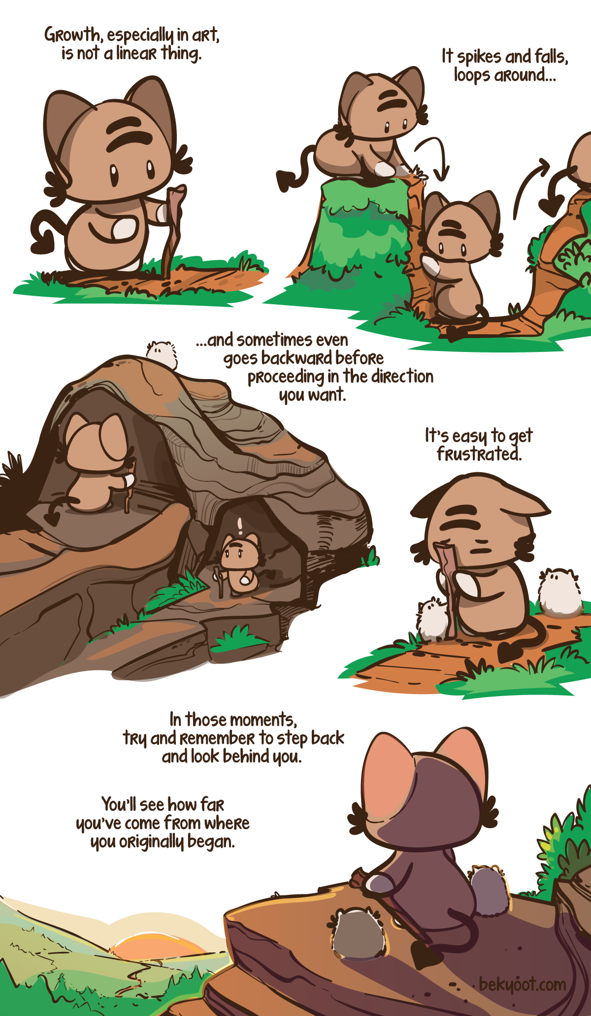 Momocheet serves up another wholesome comic reminder to be kind to yourself.